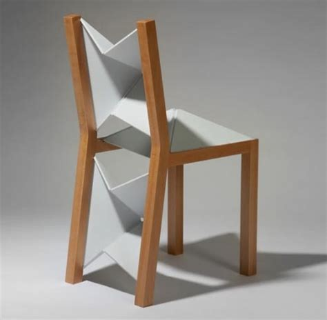 crafty wooden flex chair uses clever flat folding plastic