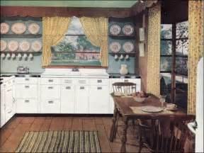 1940 Homes Interior 1946 Early American Kitchen 1940s Kitchens Mid Century Interior Design