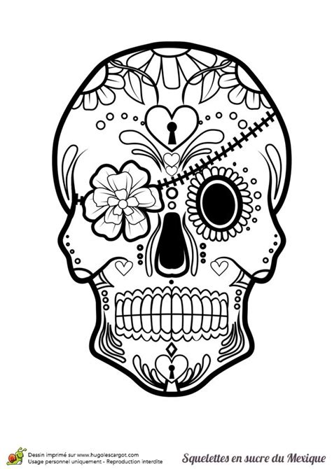 251 best Sugar Skulls + Day of the Dead Coloring Pages for