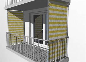 Balkon Sichtschutz Design Blockstreifen Gelb Wei