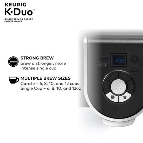 This reusable k duo keurig filter feature a design that guarantees to get the most out of your coffee. Keurig K-Duo Coffee Maker, with Single-Serve K-Cup Pod, and 12 Cup Carafe Brewer & Reviews   Wayfair