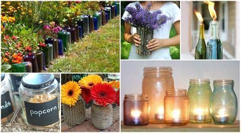 adorable ways  turn  glass bottles jars
