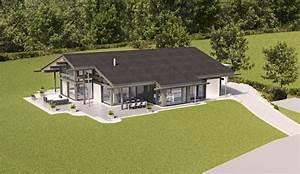 Fertighäuser Aus Holz : huf haus bungalow modernes fertighaus aus holz und glas huf haus plan ~ One.caynefoto.club Haus und Dekorationen