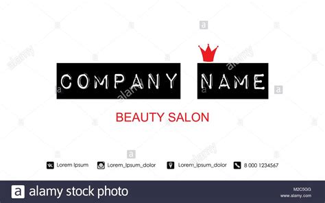 Beauty Salon Logo Stock Photos & Beauty Salon Logo Stock Visiting Card Designs Psd Free Download Business Letterhead Templates Images Hd For Advocates Storage Ideas Background Jewelry Cards