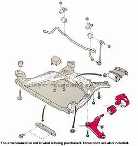 For Ford Mondeo Mk4 Front Lower Suspension Wishbone Arm