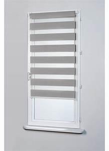 Store Enrouleur Bois : store enrouleur jour et nuit gris blanc taupe ~ Premium-room.com Idées de Décoration