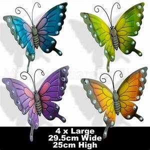 Butterflies coloured outdoor large metal butterfly