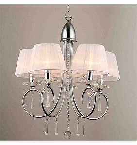 Lustre Suspension Design : lustre baroque 5 bras cristal et chrome ~ Teatrodelosmanantiales.com Idées de Décoration