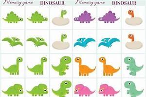 Dinosaur Memory game free printables Creative Kitchen