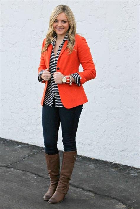 sophisticated orange blazers  men women  fashion