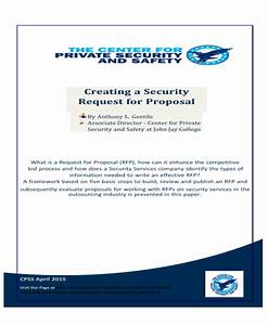 9 sample service proposal letters sample templates With proposal letter for security services