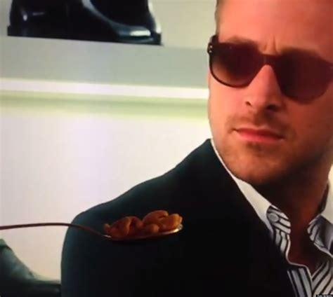 Ryan Gosling Cereal Meme - ryan gosling won t eat his cereal meme is just too good videos vine huffpost