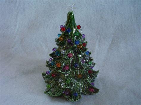 vintage small ceramic christmas tree no base 90 bulbs other