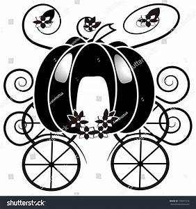 Vector Cartoon Black And Wite Cinderella Chariot ...