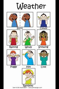 Asl Number Chart Simple Weather Signing Sign Language For Kids Asl Sign