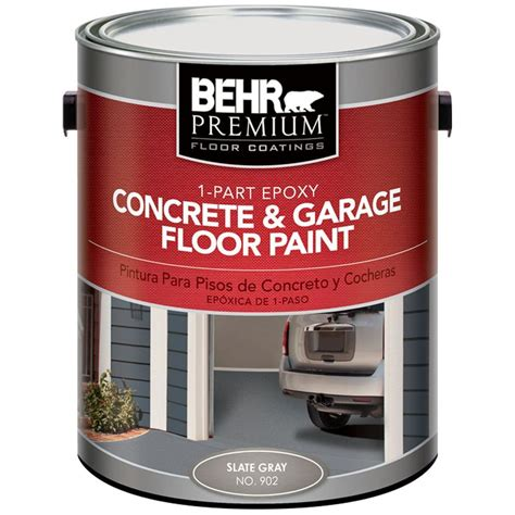 behr garage floor coating colors behr premium 1 gal 902 slate gray 1 part epoxy concrete