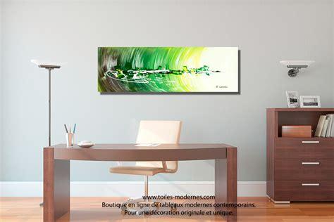 bureau de style tableau ville abstraite rectangle 3d vert pour une