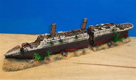 titanic boat ship wreck large 2 part ornament aquarium