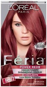 Loreal Hair Color Color Chart L 39 Oreal Feria R57 Intense Medium Auburn Hair Pinterest