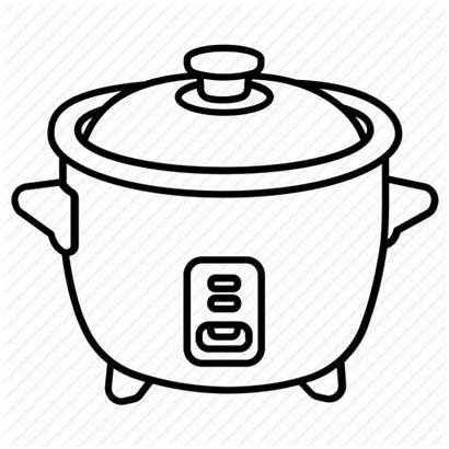 Rice Drawing Transparent Clipart Crockpot Easy Cooker