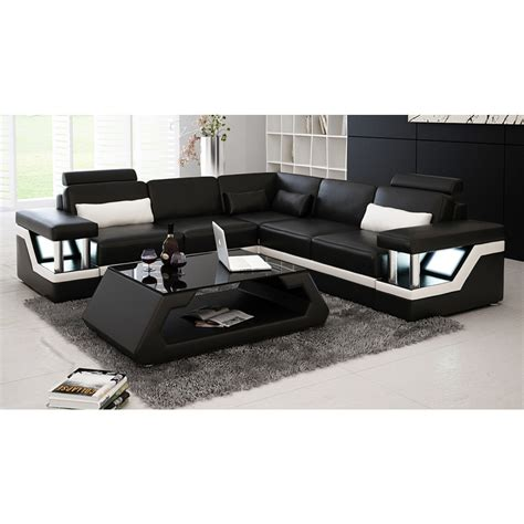 canape en cuir design canapé d 39 angle design en cuir véritable tosca l lit