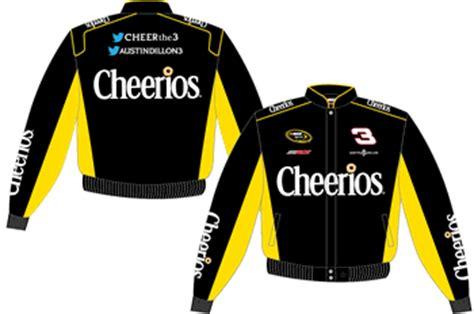 austin dillon cheerios kids yellow twill nascar jacket