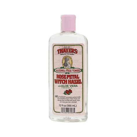 thayers alcohol free rose petal witch hazel with aloe vera 12 fluid ounce thayers free witch hazel toner petal thrive market
