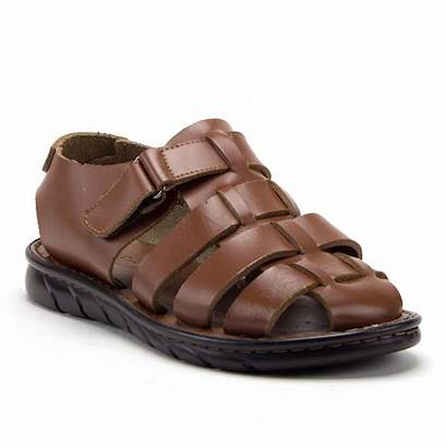 Sandals Fisherman Leather Toe Closed Strap Covered