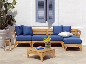 Canape De Jardin En Bois : salon de jardin moderne 7 collections exclusives par ethimo ~ Dallasstarsshop.com Idées de Décoration