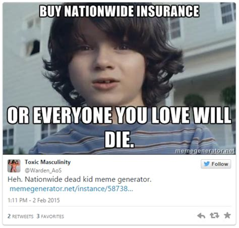 Meme Commercial - buy nationwide insurance or else nationwide dead kid know your meme