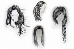 How To Draw A Girl With Long Hair | www.imgkid.com - The ...