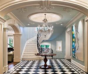 Staircase ceiling design hall contemporary with interior