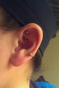 Conch and rook piercing combo   jewelry/piercings ...