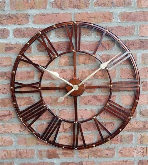 large outdoor garden wall clock big arabic numerals