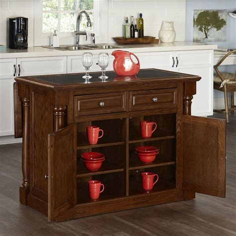 Monarch Oak Kitchen Island With Granite Top5006945  The
