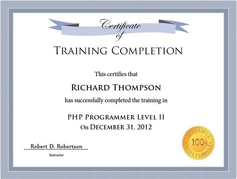 traininb certificate template 11 free sle training certificate templates printable