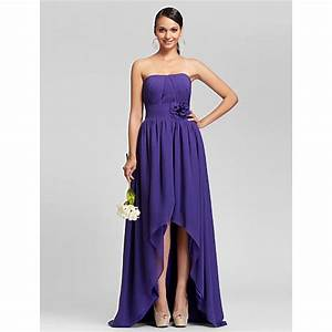 Asymmetrical / Sweep/Brush Train Chiffon Bridesmaid Dress ...