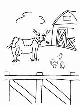 Coloring Animals Farm Printable Pages Animal Cow Crayon Action Sheets Toddlers Colouring Bestcoloringpagesforkids Related Theme Worksheet Spring Popular sketch template