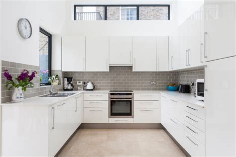 herringbone tile floor kitchen contemporary gray ovens with grey metro tile splashback kitchen modern