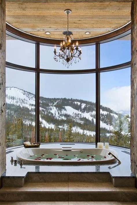 tub mountain view luxury bathroom with mountain view