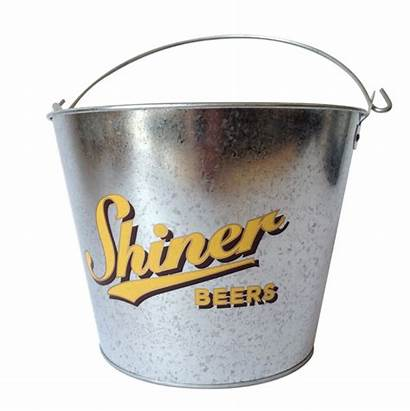 Bucket Ice Metal Beer Shiner Oval Tin