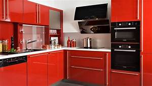 cuisine rouge et noir ikea With cuisine moderne rouge et noir