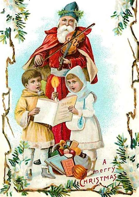Santa Postcard Giving Toys To From Antique 650 Best Vintage Santa St
