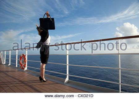 deck west nassau bahamas cruise ship deck railing view stock photo royalty free