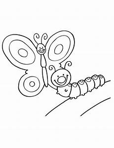 Dessin Facile Papillon : coloriage papillon chenille coloriage arabic calligraphy et calligraphy ~ Melissatoandfro.com Idées de Décoration