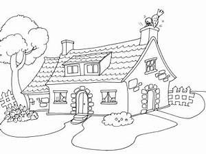 coloriage maison avec jardin avie home With dessin d interieur de maison