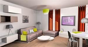 amenagement salon 20m2 good idee amenagement salon avec With amazing meubler une petite cuisine 5 amenagement salon salle a manger