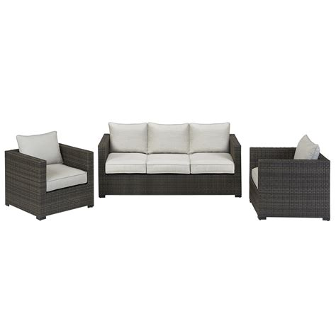 Sears Patio Furniture Monterey by Grand Resort Monterey 3pc Sofa Seating Set Grey