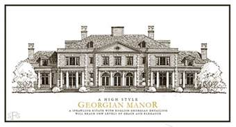 georgian home plans stephen fuller designs high style georgian manor