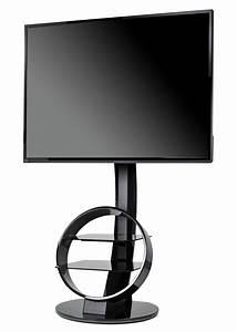 Meuble Avec Support Tv : meuble tv circle avec support noir ateca ~ Dailycaller-alerts.com Idées de Décoration